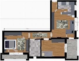 Bloc nou, 3 camere, terasa,parcare, negociabil
