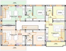 Bloc nou, apartament cu 3 cam (penthouse), dec, situat pe 2 nivele, et